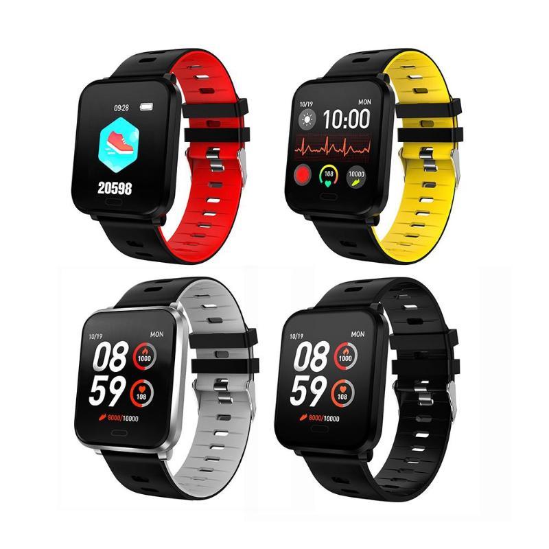 New product K10 square screen smart bracelet 1.3 full touch color screen blood pressure sleep waterproof sports bracelet