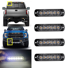 цена на Car-Styling Bright White Yellow Red Blue Amber 6 LED 12V Truck Van Beacon Strobe Warning Flashing Emergency Grille Police Light