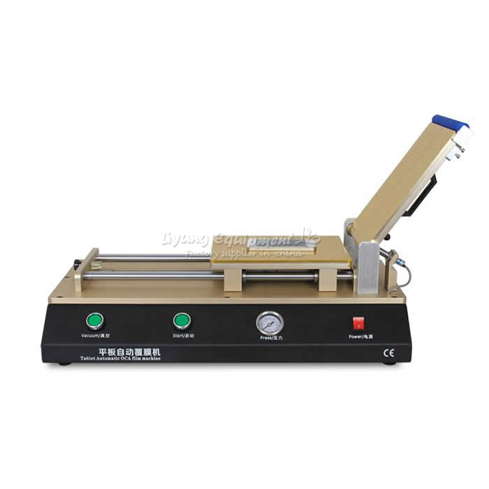 LY 975 Build-in pump,Semi-Auto Vacuum OCA film laminating machine for Moibile phone repair, free tax to EU semi auto lcd repair machine ly 948v 3 oca pack c for 7 inch free tax to europe