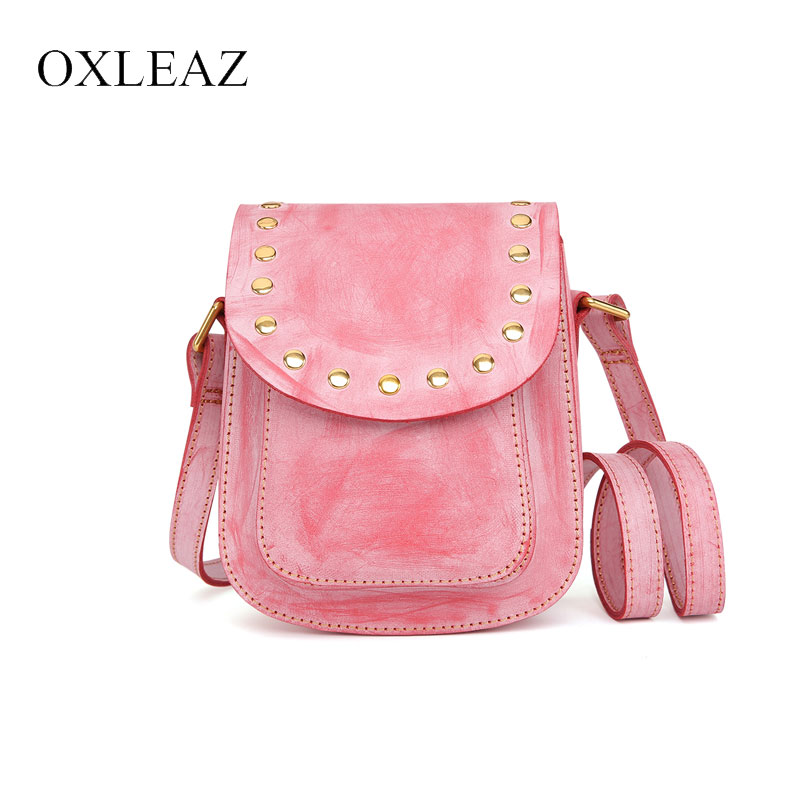 OXLEAZ Fashion Mini Female Genuine Leather Shoulder Crossbody Bag Casual Womens Bags Handbags Ladies Sling Bags