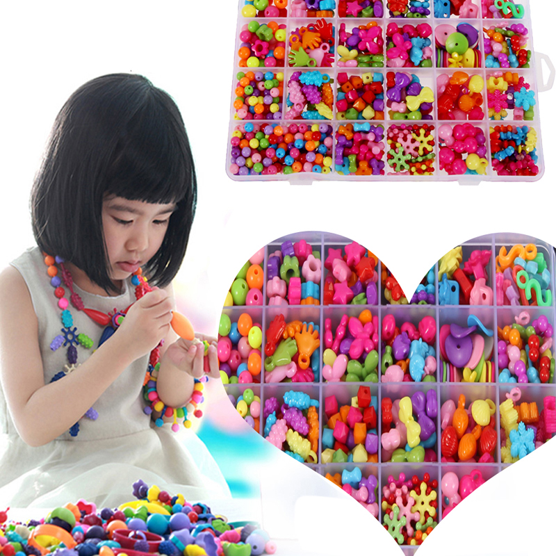 Jigsaw Puzzle Amblyopia Candy Colors DIY Wear Beads Bracelet Kids Toys Geometric Shape Personalized Jigsaw Gift for Children miniature house shape diy art 3d jigsaw puzzle