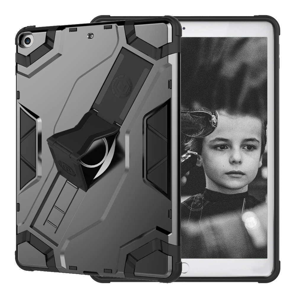 For iPad 9.7 2017 FashionTablet Case Cover Kids Safe Shockproof Heavy Duty TPU+PC Kickstand Case Protective Shield
