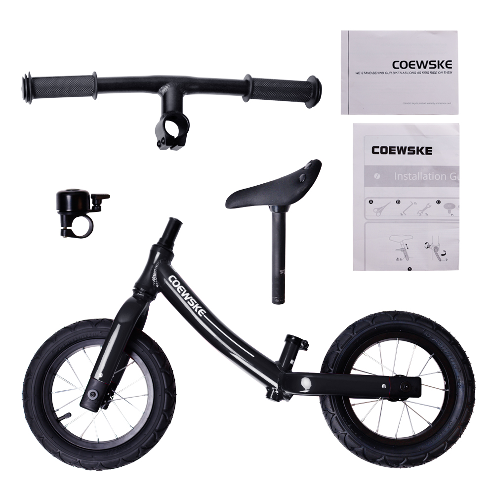 Coewske 12 Inch Aluminum Balance Bike Toddler No Pedals For 2 – 6 Year Old - Red, Blue, Black 4