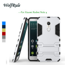Anti-knock Case Xiaomi Redmi Note 4X Cover Plastic +Soft Silicone Phone Stand For <