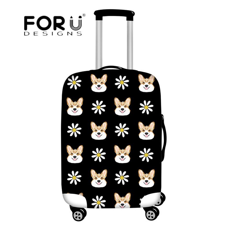 Set of 2 Cutie Corgis Luggage Tags Suitcase Labels Bag Travel Accessories