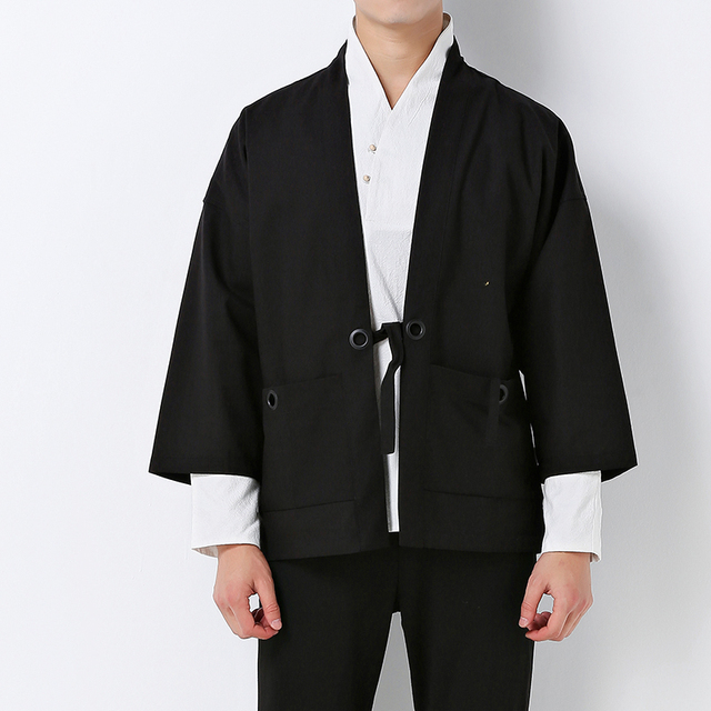 China style mens kimono jacket male spring cardigan coat hip hop ...