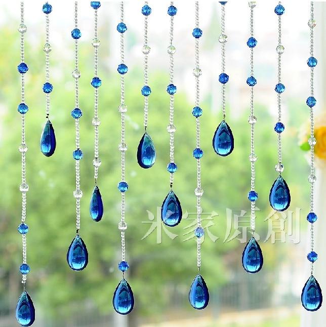 Kristal şüşə muncuq iplər qapı pərdəsi kristal boncuk pərdə - Ev tekstil - Fotoqrafiya 1