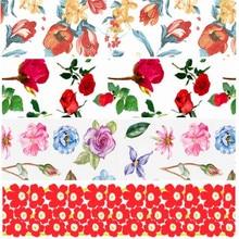 Выберите размер 16, 22, 25, 38, 50, 75 мм ширина ленты с цветами и цветочным принтом, лента для волос, банты FL15