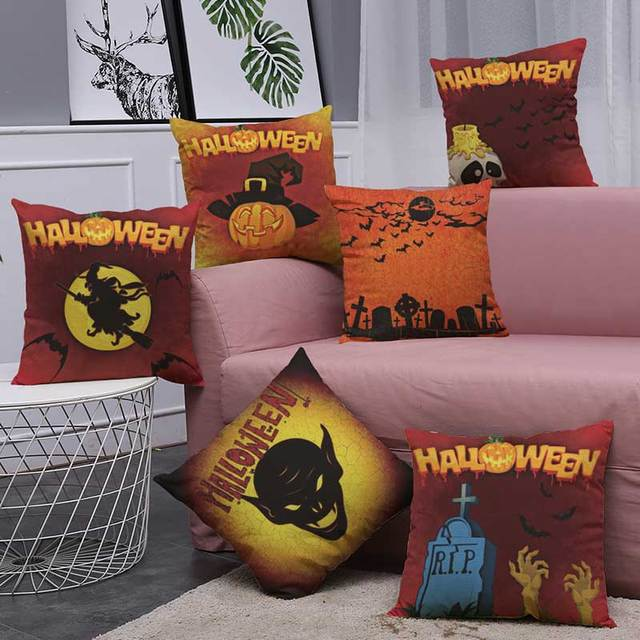 Aliexpress Buy Free Shipping 40cm40cm Cushion Cover Halloween Best Free Decorative Pillow Patterns