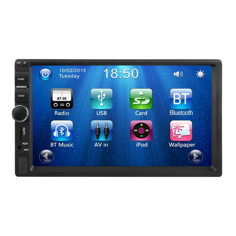 2 Din 7 inch Bluetooth Car MP5 Player Digital 1080P Touch Screen Support Rear View Camera Stereo FM Radio Car Multimedia Player car mp5 player stereo bluetooth radio car audio hd 7 inch 2 din touch screen autoradio handsfree support rear view camera player