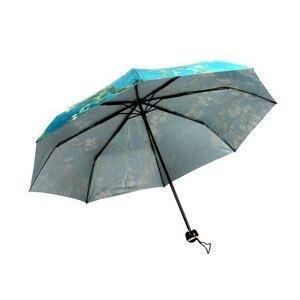 Image 4 - فنسنت فان جوخ مظلة زهر اللوز النفط اللوحة 8 إطار مقاوم للريح الضلع للنساء المحمولة ثلاثة مظلة الفن للطي