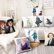 Decorative Pillows Linen Cushion Fantastic Beasts Anime Almofadas Printed Thin And Cartoon
