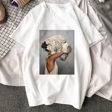 Nueva llegada Harajuku estética camiseta Sexy flores Impresión de manga corta Camisetas y Tops de moda Casual pareja de camisa T