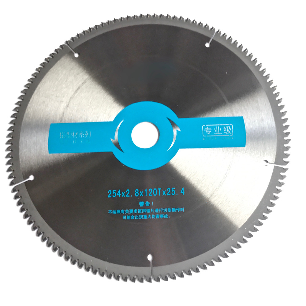 Free shipping Professional quality 254*25.4*2.8*100T/120T TCG teeth form TCT saw blade NF metals aluminum copper cutting blades no 1 twist plaster saws jewelry spiral teeth saw blades cutting blade for saw bow eight kinds of sizes 144 pcs bag
