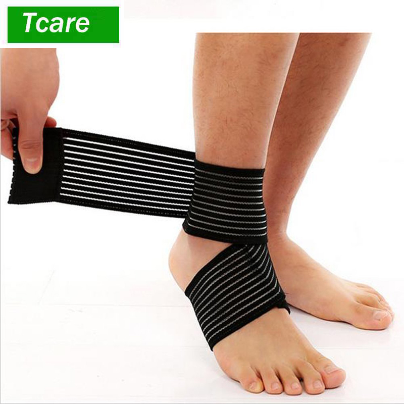 1Pair Elastic Breathable Wrap Ankle Support Brace Compression Knee Elbow Wrist Ankle Hand Support Wrap Sports Bandage Strap