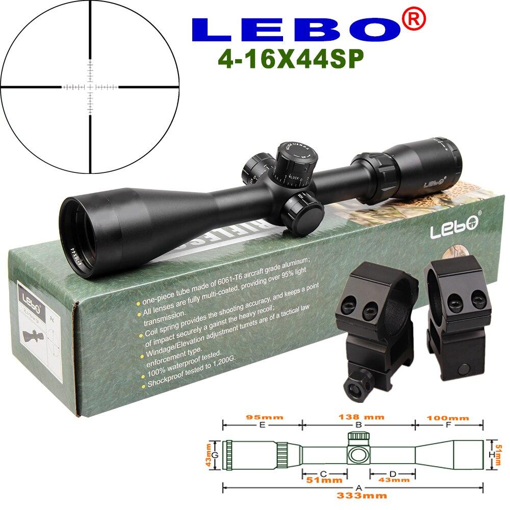 LEBO 4-16X44SP P4 Optical Sight Side adjustment button second focal plane air gun scope fit airgun air soft sniper air sniper цены