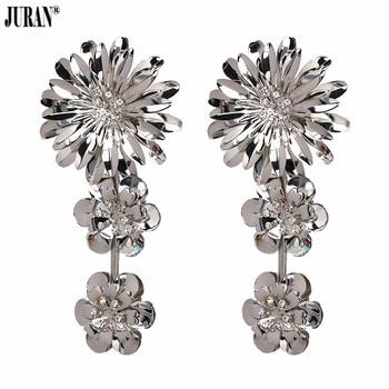 196f9023c70f JURAN nueva moda gran flor pendientes de gota para las mujeres encanto de  lujo boda declaración joyería de pendientes venta al por mayor