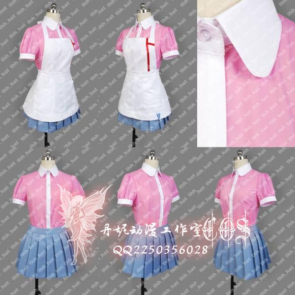Dangan Ronpa 2 Mikan Tsumiki Cosplay Costume  Custom Any Size Wigs