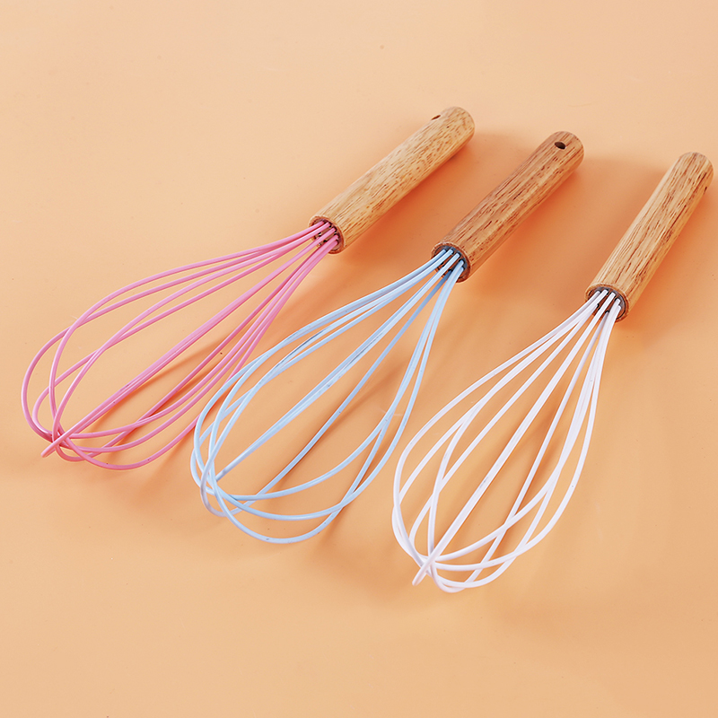 Blue White Pink 3 Colors Whisk Mixer Egg Beater Silicone