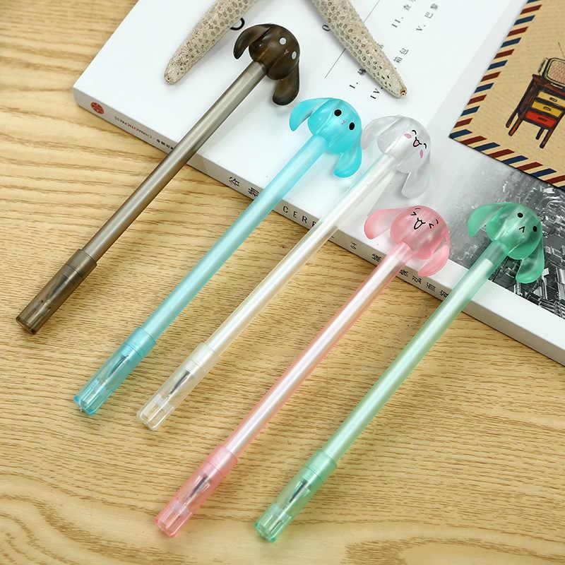 0.38 mm Cute Long ears Bunnies Gel Pen Kawaii Gel Pens For School Writing Novelty Supplies Stationery Students Gifts