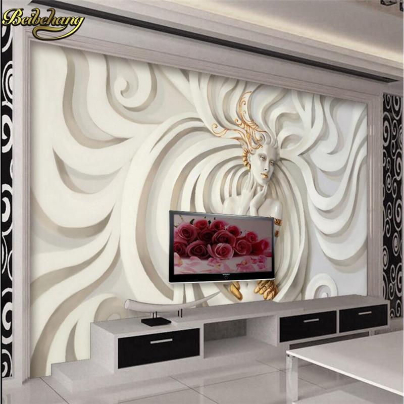 8 15 41 De Reduction Beibehang Personnalise Relief Sculpture Belle Femme Photo Papier Peint Mural 3d Papier Peint Art Design Chambre Bureau Salon