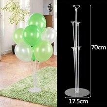 Tubos globos Base soporte de columna confeti látex hoja accesorios de globos niños cumpleaños Baby Shower fiesta decoración suministros