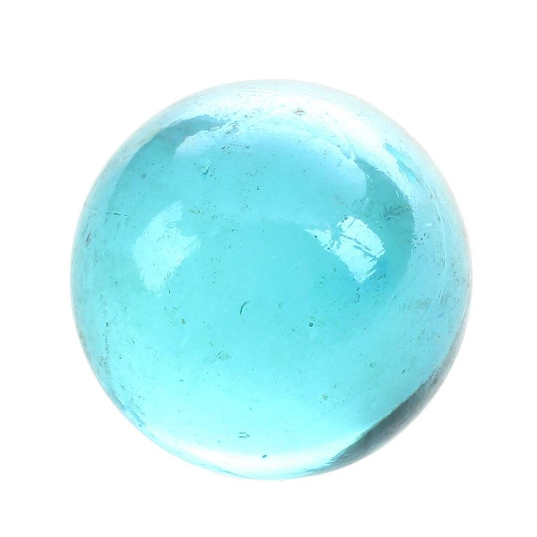 MACH 10 pièces billes 16mm verre billes Knicker boules de verre décoration couleur pépites jouet bleu clair