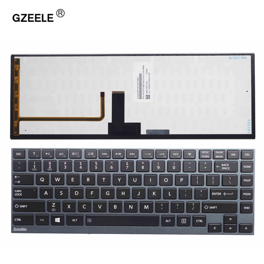 GZEELE US Laptop keyboard for Toshiba Satellite U800W U845 U900 U920 U920T U925 U940 R830 Z935 With Backlit цена