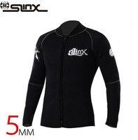 SLINX Women Men1109 5mm Neoprene Dive Jacket Wetsuit Surfing Windsurfing Swimwear Waterski Water Craft Boating Wet Suit
