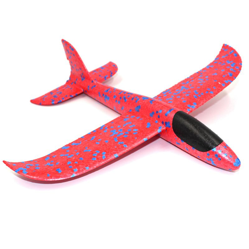 Offre spéciale 1 pièces EPP mousse main jeter avion en plein air lancement planeur avion enfants cadeau jouet 34.5*32*7.8cm intéressant jouets couleur aléatoire
