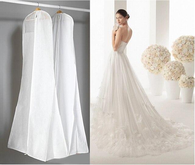longitud 170 cm vestido de boda barato bolsas de ropa cubierta de