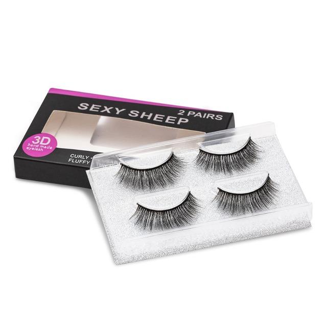 SEXYSHEEP 1/2 pairs natural false eyelashes fake lashes makeup kit 3D Mink Lashes eyelash extension mink eyelashes maquiagem