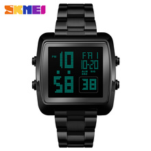 SKMEI Outdoor Sports Square Digital Watches Men Luxury Gold Bussines Wristwatches Fashion Big Dial Electronic Watch Montre Homme