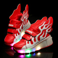 2017 New Casual Shoes Glowing Men Fashion Luminous Led With Wings Shoes For Adults Basket Superstar LED Shoes Sapatos Masculinos