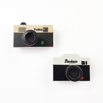24 Pcs/pack New Cute Wooden Clear Stamp Ancient Camera Shape Stamps Decoration Wholesale