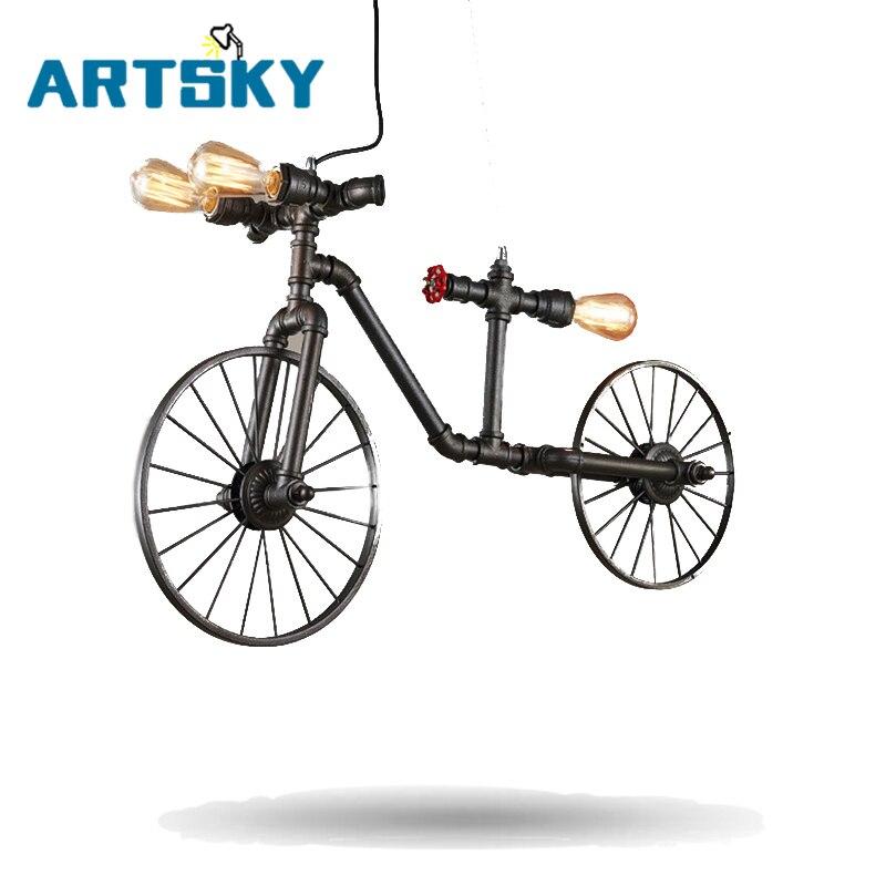 Ξ Vintage Retro Pendant Lights Bicycle Lamps Cafe Bedroom Hose - Individual pendant lights