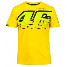 2016 Motorcycle casual T-shirt 46 logo Valentino Rossi VR46 Moto GP Monza Cotton T-shirt yellow