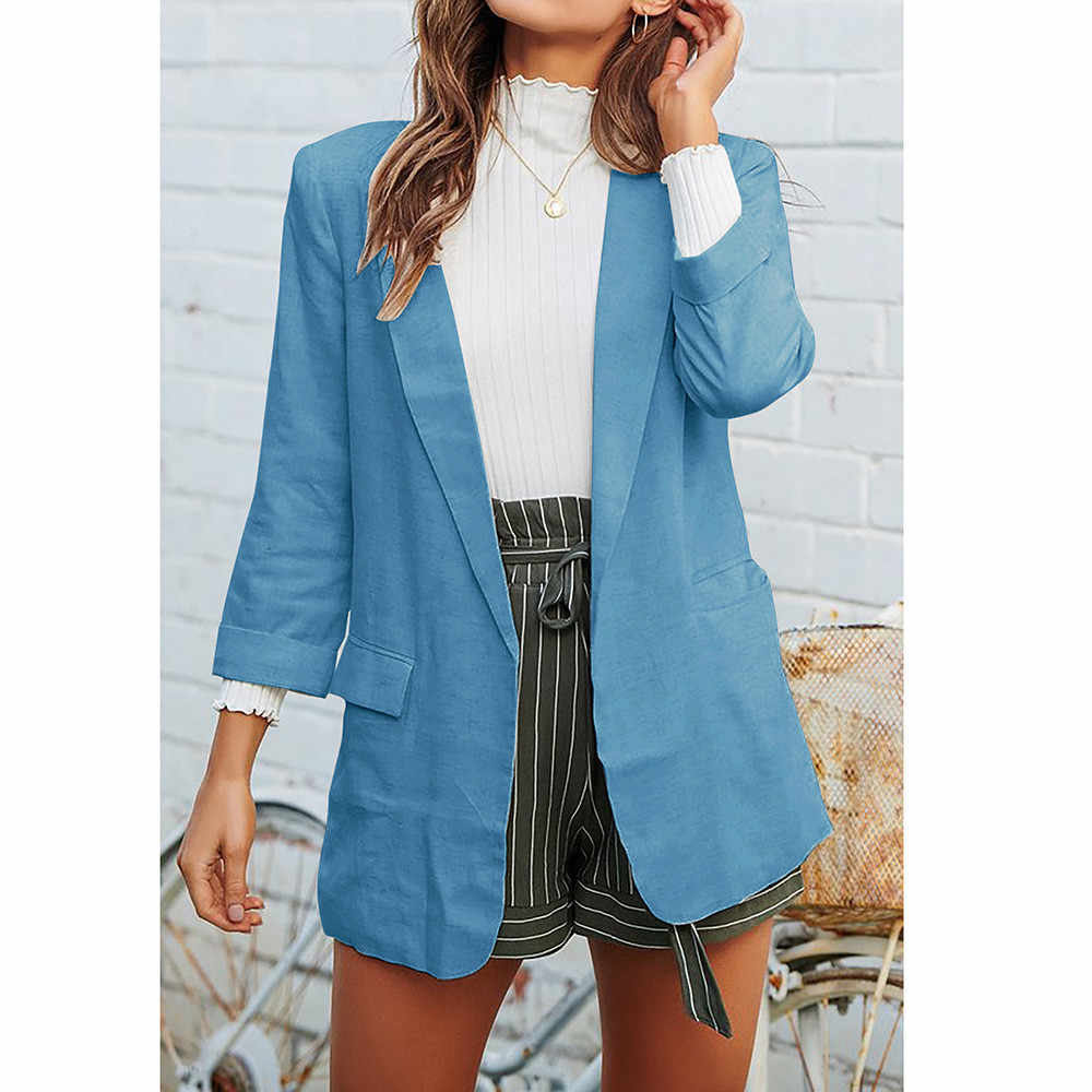 14797041c7 ... Women Casual Work Suit Long Sleeve Loose Office Coat Jacket Blazer  Jacket Suits Female 2018 Fashion