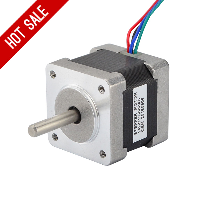Nema 14 Stepper Motor 34mm 18Ncm(25.5oz.in) 0.8A 4-lead Nema14 Step Motor for 3D Printer Prusa Makerbot Reprap CNC Robot 0 9 step degree nema14 round stepper motor with 8 8n cm 12oz in length 20mm ce cnc step motor