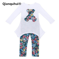 Baby Clothes Floral Clothes Sets Cotton Spring Sets Full Sleeve T Shirt And Long Pants Cute
