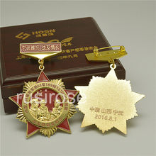 Pentagram Army Medal, Russian Medal of Honor medals custom,With high-grade wooden box(China)
