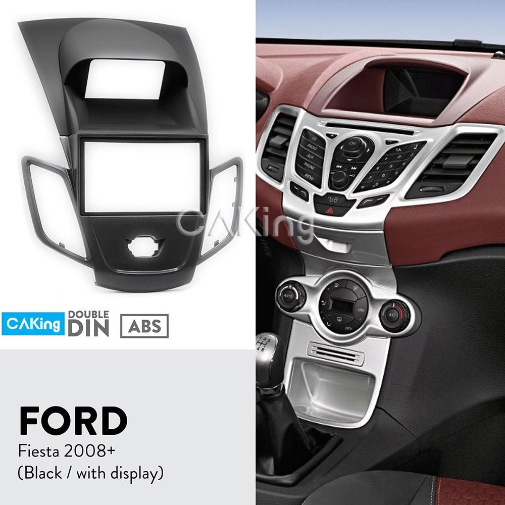 Double Din Car Fascia Radio Panel for FORD Fiesta 2008 2017 Audio Frame Dash Fitting Kit