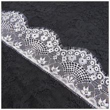 3Meters Embroidered Eyelash Lace Ribbon White Dress Wedding Applique Trim Sewing African Fabric Clothing Accessories