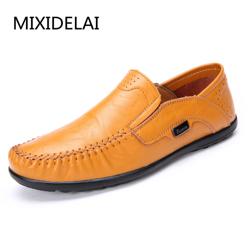 big size 38-47 slip on casual men loafers spring and autumn mens moccasins shoes genuine leather men's flats shoes qinsir plus size 38 46 slip on casual mens loafers spring and autumn mens moccasins shoes genuine leather men s flats shoes