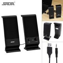SADA Newest Combination Speaker Portable Subwoofer PC  Bass USB Soundbar TV Computer Speakers Loudspeaker for Laptop