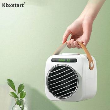 Kbxstart Portable Mini Air Conditioning Fan USB Charging Fan Desktop Low Noise Fan with 350ml Water Tank Conditioner For Office