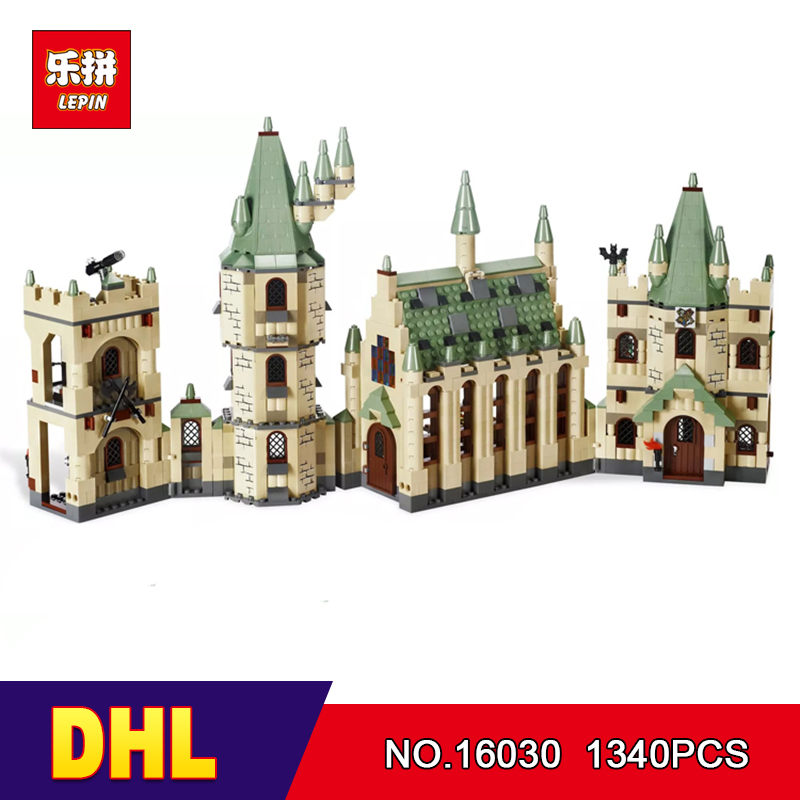 Dhl lepin 16030 1340pcs hogwarts castle school building for Cost of building blocks in jamaica 2017