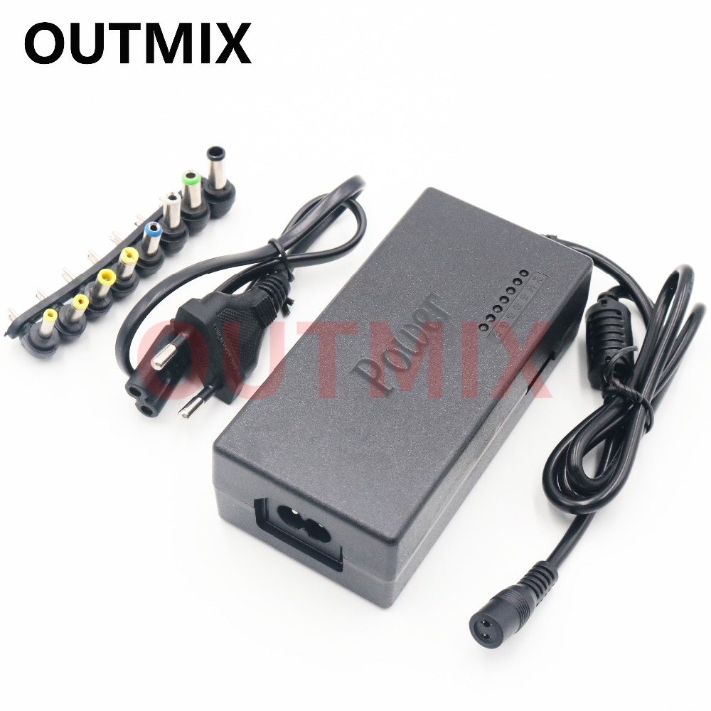 Regulated 12-24V DC Power Supply Adapter Charger For Multi Laptop 96W With 8 Tip