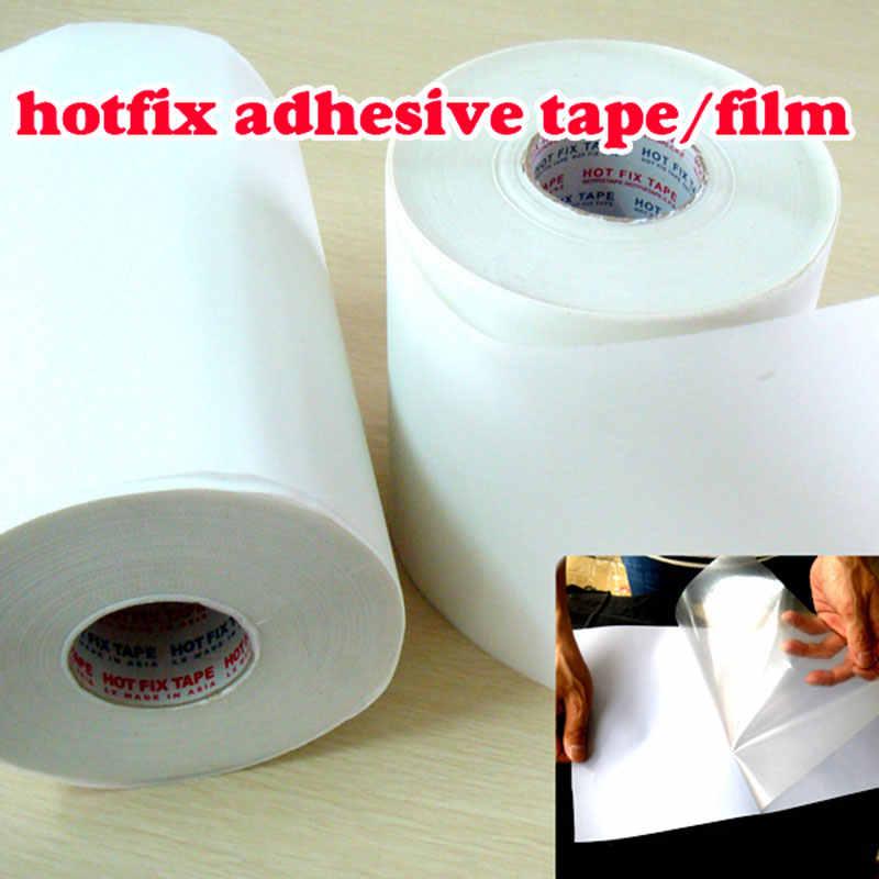 Sıcak düzeltme kağıdı ve bant 5M uzunluk/Lot 32CM genişliğinde yapışkanlı demir ısı transferi film süper kaliteli akrilik elmas taklidi DIY araçları Y2642