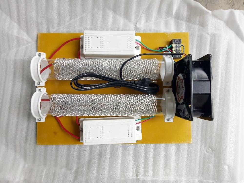 New high quality/DC12V/AC110V/AC220V/15g/h Quartz Tube Ozone Generator Kit For Air Purifier/Ozonator For Air/US/AU/EU/UK/ Plug цена